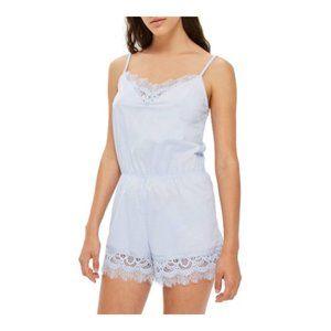 Topshop Lydia  Lace Teddy Pajamas Size 8